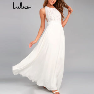 Lulu's - 'Forever and Always' Lace Maxi Dress